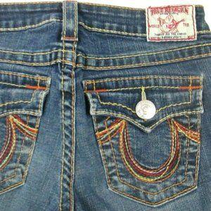 "True Religion ""Rainbow Becky"" Bootcut Jeans 28"